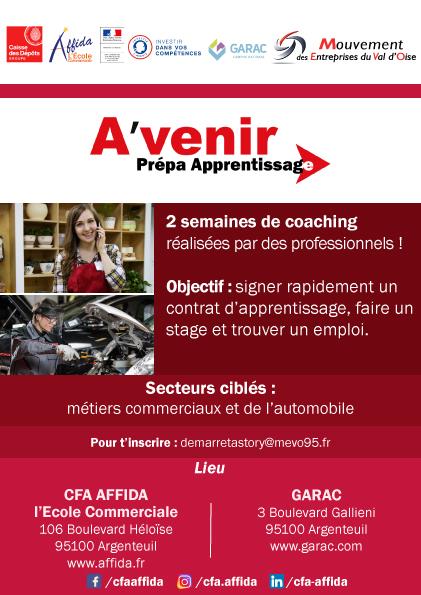 Flyer Avenir Prépa Apprentissage versionGarac 2021