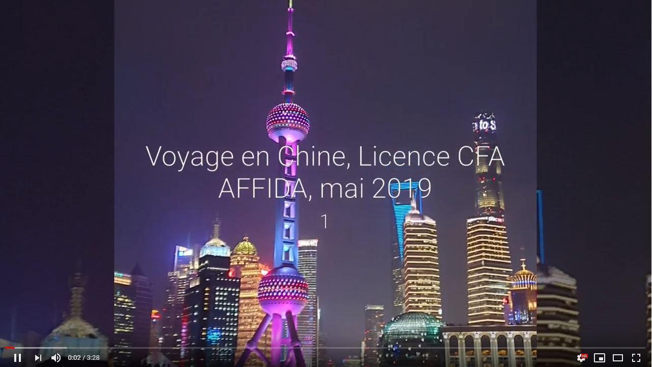 voyage en Chine vidéo
